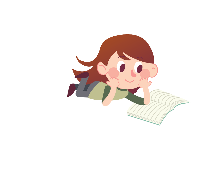 girl is reading